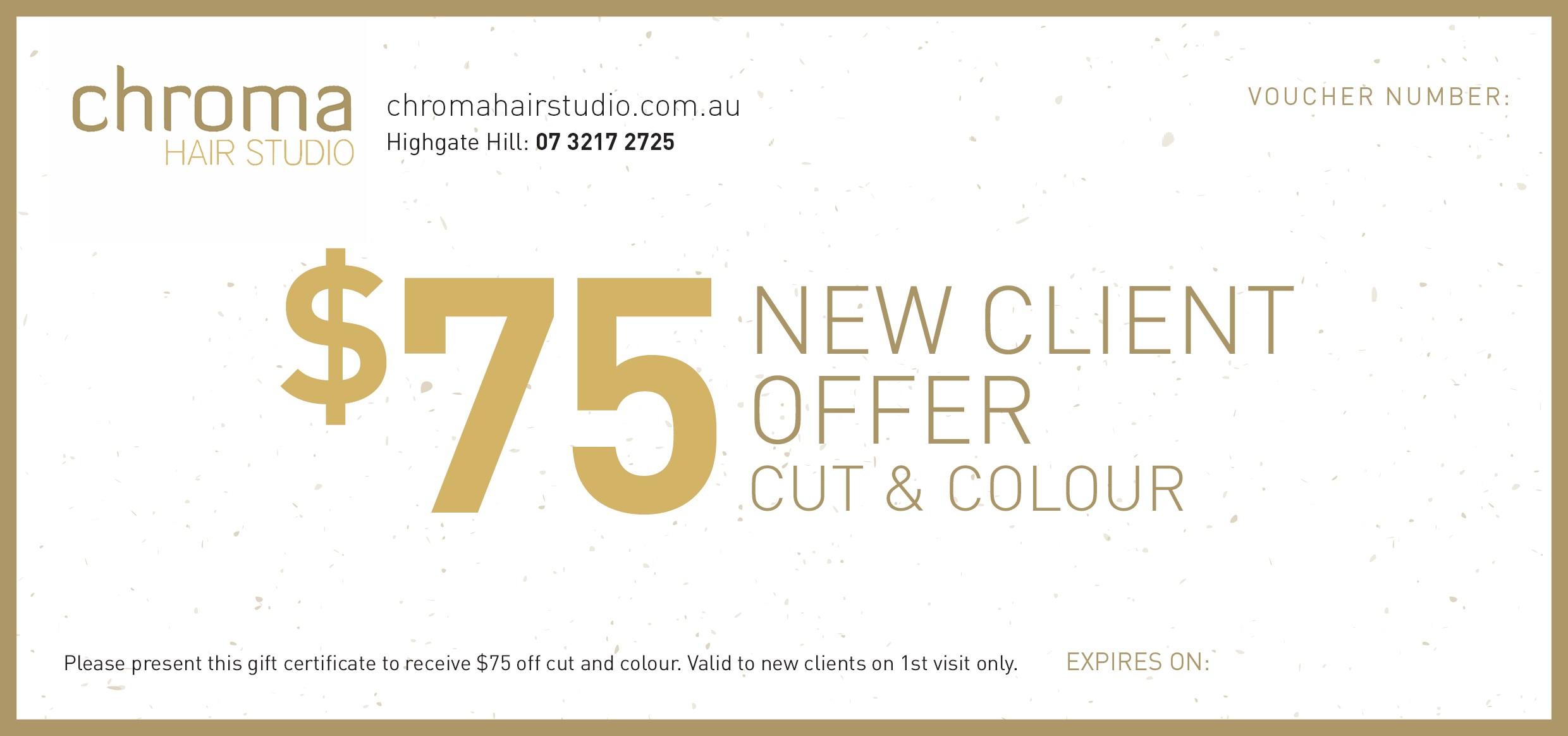 FREE Gift Voucher - $75 off cut and colour (on 1st ...